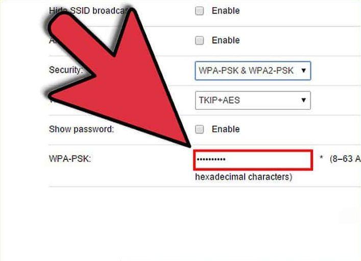 آموزش قرار دادن رمز بر روی وای فای (Set Wifi Pass)