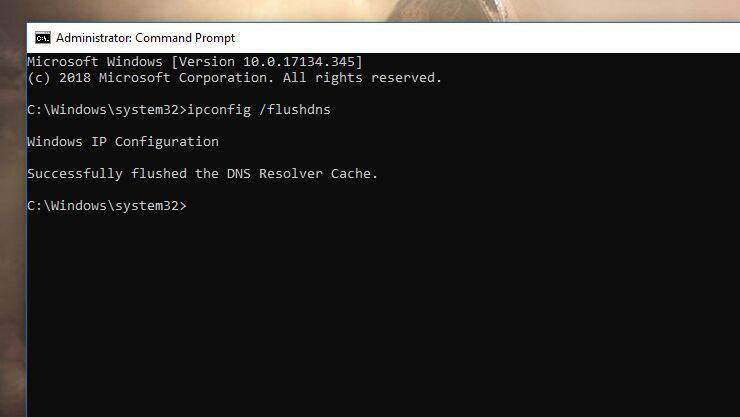 3. پاک کردن کش DNS برای رفع خطای DNS Server Not Responding