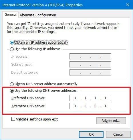 4. استفاده از DNS ها دیگر